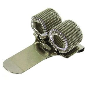 ペンホルダー 銀座吉田 スプリング ペンクリップ 2穴ホルダー 10個セット シルバー penhld2sil|nomado1230