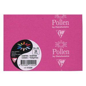 カード クレールフォンティーヌ POLLEN ポレン ポレンミニカード 5セット フューシャピンク cf11224|nomado1230