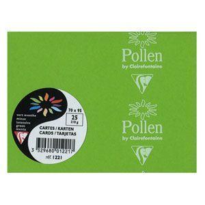 カード クレールフォンティーヌ POLLEN ポレン ポレンミニカード 5セット ミントグリーン cf1221|nomado1230