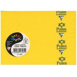 カード クレールフォンティーヌ POLLEN ポレン 四角カード 25枚入 5セット イエロー cf1323|nomado1230
