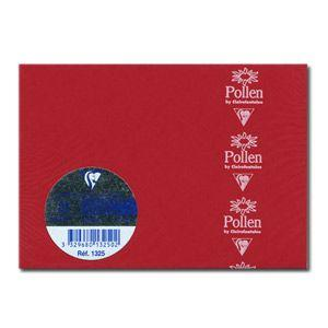 カード クレールフォンティーヌ POLLEN ポレン 四角カード 25枚入 5セット レッド cf1325|nomado1230