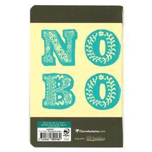ノート 横罫 クレールフォンティーヌ BOB 11×17 B 横罫 ノートブック 5冊セット グレー&ブルー cf32016|nomado1230