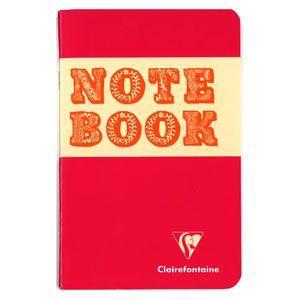 ノート 横罫 クレールフォンティーヌ BOB 11×17 S 横罫 ノートブック 5冊セット ピンク&オレンジ cf32066|nomado1230