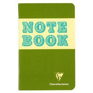 ノート 横罫 クレールフォンティーヌ BOB 11×17 S 横罫 ノートブック 5冊セット マッチャグリーン&ブルー cf32076|nomado1230