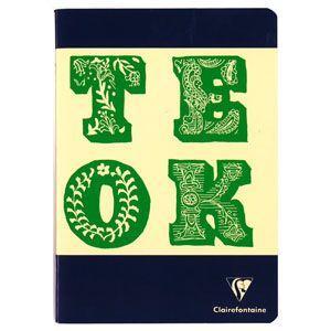 ノート A5 横罫 クレールフォンティーヌ BOB A5 B 横罫 ノートブック 5冊セット ネイビー&グリーン cf32816|nomado1230