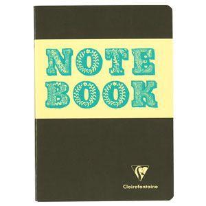 ノート A5 横罫 クレールフォンティーヌ BOB A5 S 横罫 ノートブック 5冊セット グレー&ブルー cf32846|nomado1230