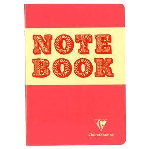 ノート A5 横罫 クレールフォンティーヌ BOB A5 S 横罫 ノートブック 5冊セット ピーチ&レッド cf32856|nomado1230