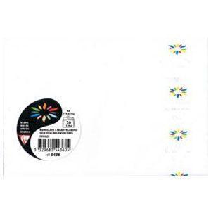 封筒 クレールフォンティーヌ ポレン C6 洋2 ポストカードサイズ封筒 ホワイト 5セット cf5436|nomado1230