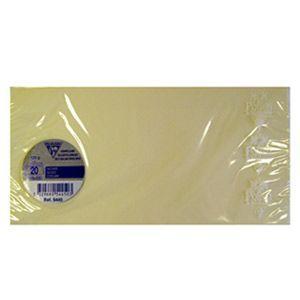 封筒 A4 クレールフォンティーヌ POLLEN ポレン A4 三つ折サイズ封筒 20枚入 5セット アイボリー cf5445|nomado1230