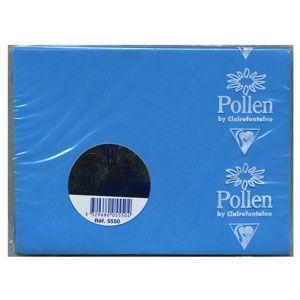 封筒 クレールフォンティーヌ POLLEN ポレン ミニカード用封筒 5セット コバルトブルー cf5550|nomado1230