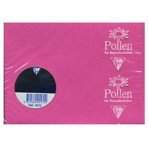 クレールフォンティーヌ POLLEN ポレン ミニカード用封筒 5セット フューシャピンク cf5570|nomado1230