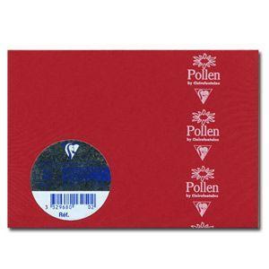封筒 クレールフォンティーヌ POLLEN ポレン ポストカードサイズ封筒 20枚入 5セット レッド cf5586|nomado1230