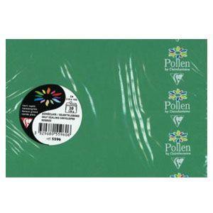 封筒 クレールフォンティーヌ ポレン C6 洋2 ポストカードサイズ封筒 フォレスト 5セット cf5596|nomado1230