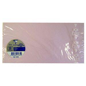 封筒 A4 クレールフォンティーヌ POLLEN ポレン A4 三つ折サイズ封筒 20枚入 5セット ライラック cf5865|nomado1230