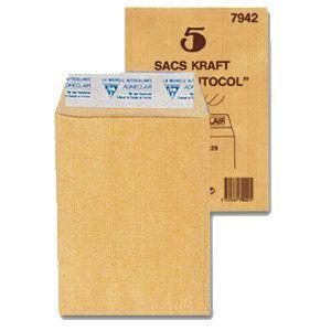封筒 クレールフォンティーヌ クラフト封筒S 5セット cf7942|nomado1230