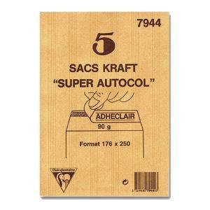 封筒 クレールフォンティーヌ クラフト封筒L 5セット cf7950|nomado1230