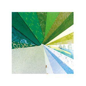 印刷用紙 クレールフォンティーヌ アートペーパー パピエドゥモンド 20枚入 3セット グリーン cf95085|nomado1230
