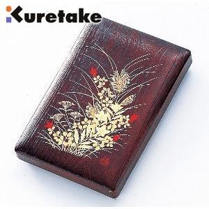 書道 クレタケ ペンプレゼント 樹脂製 硯箱 秋草 5.5寸 KB7-55|nomado1230