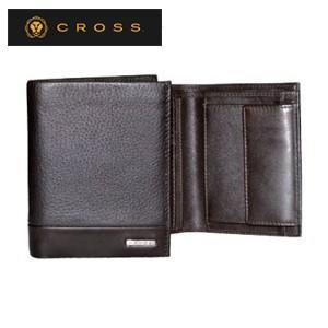 メンズ 3つ折 財布 革 名入れ クロス FV ノースウォレット コーヒー AC028008-2|nomado1230