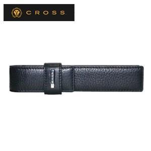ペンケース 革 名入れ クロス FV シングル ループペンケース ブラック AC028183-1|nomado1230