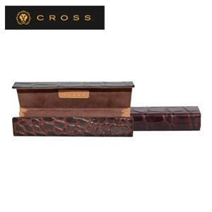 ペンケース 革 名入れ クロス ココ・バイ・カラー ペンボックス ブラウン×キャメル AC058188-2|nomado1230
