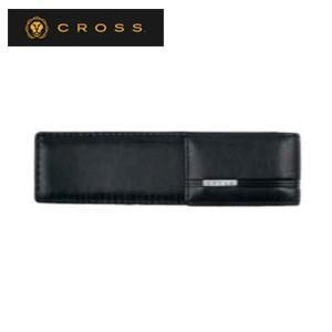 ペンケース 革 名入れ クロス クラシックセンチュリー ダブルペンケース ブラック AC260-1|nomado1230