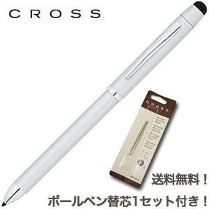 クロス 送料無料ボールペン替芯1セット付き TECH3 テックスリー プラス マルチペン サテンクローム AT0090-5_1|nomado1230