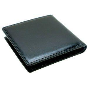 メンズ 2つ折 財布 革 名入れ 國鞄(コクホー) 國鞄シリーズ 2つ折 財布 ブラック 2291BK|nomado1230