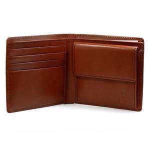 メンズ 2つ折 財布 革 名入れ 國鞄(コクホー) 國鞄シリーズ 2つ折 財布 チョコ 2291CK|nomado1230