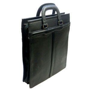 ショルダーバッグ 革 國鞄(コクホー) ビジネスバッグシリーズ ソフト牛革タイプ A4サイズ タテ型 ファスナー式 ブラック 2431BK|nomado1230