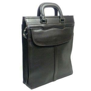 ショルダーバッグ 革 國鞄(コクホー) ビジネスバッグシリーズ ソフト牛革タイプ A4サイズ タテ型 ファスナー式 チョコ 2431CK|nomado1230