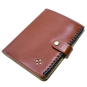 パスポートケース メンズ 革 名入れ 國鞄(コクホー) 國鞄シリーズ パスポートウォレット 本革 茶 2302CK|nomado1230