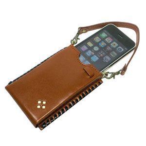 ギフトセット 國鞄(コクホー) 國鞄シリーズ i-Phone アイフォンケース 茶 2303CK|nomado1230