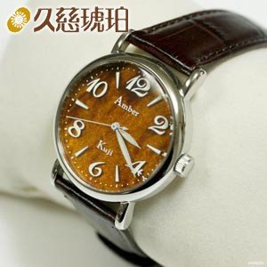 腕時計 革 久慈琥珀 アンバーダイヤルウォッチ 男性用 時計 ADW6|nomado1230