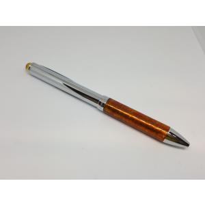 高級 ボールペン 久慈琥珀 琥珀ボールペン 茶黄ミックス ボールペン BP1TYAK|nomado1230