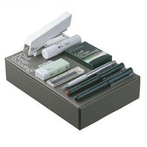 文具セット クラフトデザインテクノロジー (CDT) GIFT Set ギフトセットL L 3個セット 栗色 940SETL-DBR|nomado1230