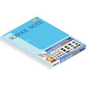 学習帳 B5 方眼 キョクトウ・アソシエイツ スクールノート B5 方眼罫 5ミリマス 学習帳 4冊束 ブルー 4セット LM5G04|nomado1230