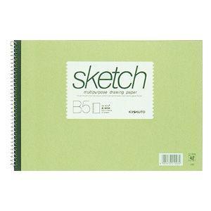 スケッチブック B5 キョクトウ・アソシエイツ スケッチブック B5判 スケッチブック グリーン 10セット SK410|nomado1230