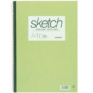 スケッチブック A4 キョクトウ・アソシエイツ スケッチブック A4判 スケッチブック グリーン 10セット SK610|nomado1230