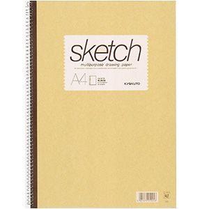 スケッチブック A4 キョクトウ・アソシエイツ スケッチブック A4判 スケッチブック クリーム 10セット SK611|nomado1230