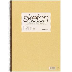スケッチブック B4 キョクトウ・アソシエイツ スケッチブック B4判 スケッチブック クリーム 10セット SK711|nomado1230