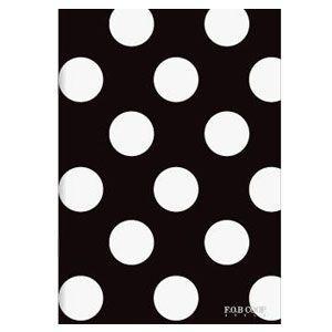 ノート A5 キョクトウ・アソシエイツ F.O.B COOP A5判 7ミリ罫 綴じノート 黒×白ドット 5セット X250|nomado1230