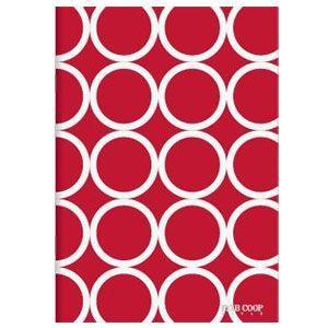 ノート A5 キョクトウ・アソシエイツ F.O.B COOP A5判 7ミリ罫 綴じノート 赤サークル 5セット X255|nomado1230