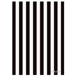 ノート A5 キョクトウ・アソシエイツ F.O.B COOP A5判 7ミリ罫 綴じノート 黒×白タテ縞 5セット X257|nomado1230