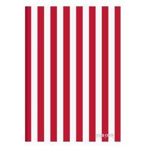 ノート A5 キョクトウ・アソシエイツ F.O.B COOP A5判 7ミリ罫 綴じノート 赤×白タテ縞 5セット X258|nomado1230