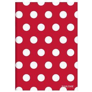 ノート A5 キョクトウ・アソシエイツ F.O.B COOP A5判 7ミリ罫 綴じノート 赤×白ドット 5セット X260|nomado1230