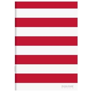 ノート A5 キョクトウ・アソシエイツ F.O.B COOP A5判 7ミリ罫 綴じノート 赤×白ヨコ縞 5セット X261|nomado1230