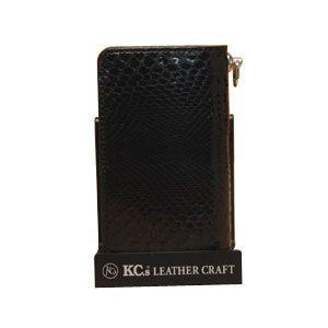 メンズ 長財布 革 ケイシーズ(KCs) エキゾチック エレノア ブラック パイソン ロング ビルフォード KIB006BK|nomado1230