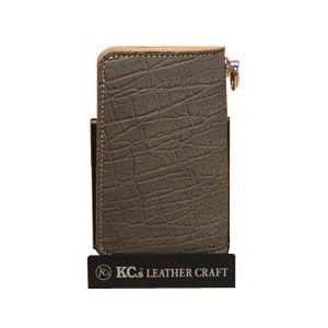 メンズ 長財布 革 ケイシーズ(KCs) エキゾチック エレノア グレー エレファント ロング ビルフォード KIB507A|nomado1230