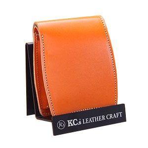 メンズ財布 革 名入れ ケイシーズ(KCs) プレーン ベーシック オレンジ ビルフォード KIB509A|nomado1230